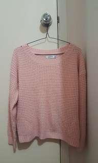 Pink knitwear sz8