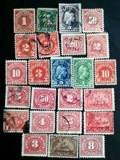 US. Revenue used stamps