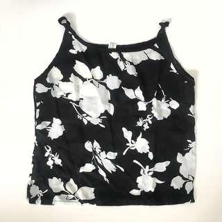 Monochrome Floral Top