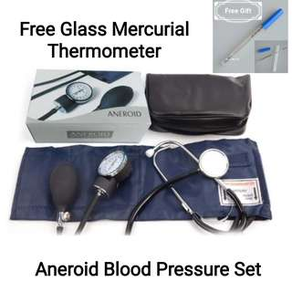 Professional Adult Blood Pressure Monitor BP Cuff Arm Aneroid Sphygmomanometer kit with Pressure Gauge