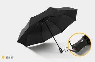 TF 全自動開關8骨摺疊傘 -黑色