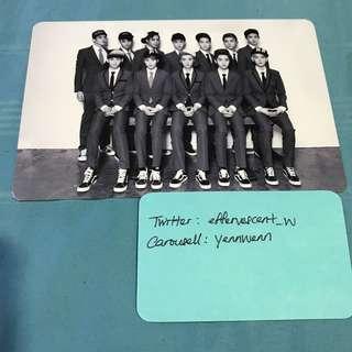EXO XOXO Promo Card OT12 Official Group Photocard