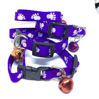 CCP9685 CAT COLLAR PAW PRINTED ~ PURPLE
