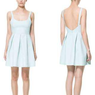 Zara Fit & Flare Mint Dress