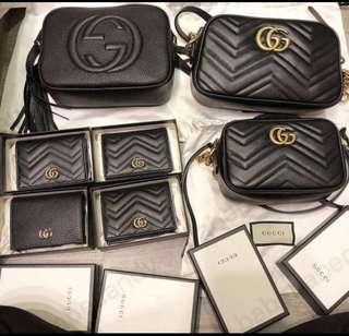 Gucci wallets and bags