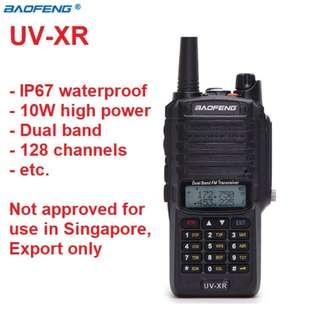 🚚 New arrival 😍10W 😍Baofeng 👍🏻IP67 Waterproof 👍🏻radio High Power 4800mAh Battery UV-XR Dual Band 136-174 & 400-520 MHz Radio  Walkie Talkie