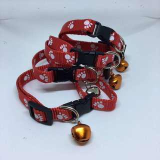 CCP9685 CAT COLLAR PAW PRINTED - RED
