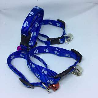 CCP9685 CAT COLLAR PAW PRINTED - BLUE