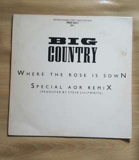 Where the Rose is Down - Big Country (12'Single Vinyl record