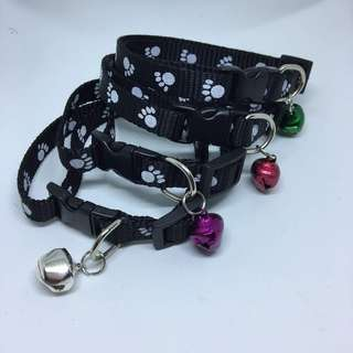 CCP9685 CAT COLLAR PAW PRINTED - BLACK
