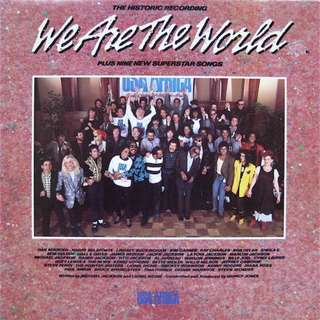 Vinyl LP Record USA for Africa We Are The World US 1983 Pressing various artists
