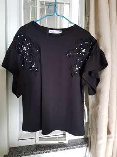 韓國新款珍珠上衫