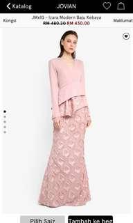 [ RENT ] Jovian Dusty Pink Modern Kurung