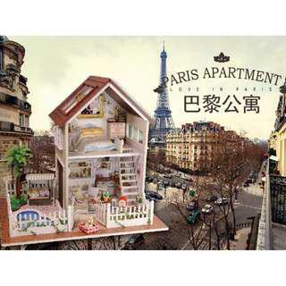 (市面半價優惠) *包郵*DIY小屋巴黎公寓手工拼装模型