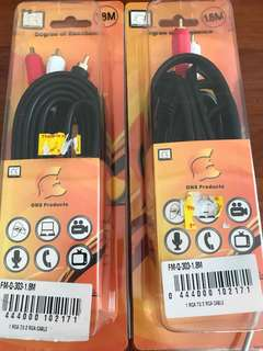 1RCA to 2 R A cable