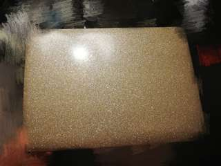 13 inch MacBook air gold glitter laptop case top only
