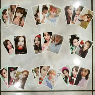 Official Twice Twicecoaster Lane 2, Twicecoaster Lane 1 and Merry And Happy Individual Member Preorder Benefit Photocard Set