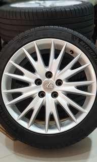 "Lexus GS OEM 18"" with Tyres"