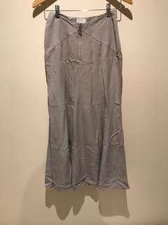 Long grey skirt