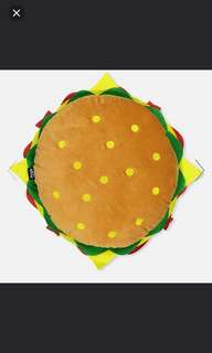 Typo Hamburger Cushion Pillow Plush