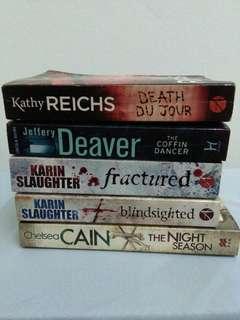 English Crime and thriller Novels