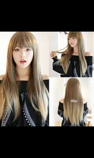 (NO INSTOCKS!) PO Harajuku two tone gradient air bang wig * waiting time 15 days after payment is made * chat to buy to order