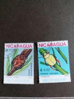 尼加拉瓜郵票 已銷昆蟲郵票