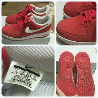 Nike Air Force 1 '07 Suede (University Red/White)