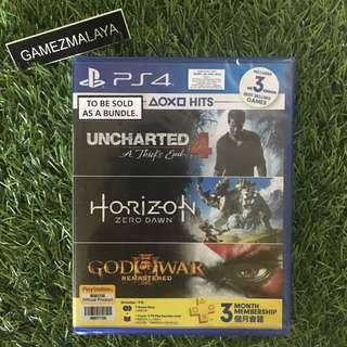 [NEW] PS4 HITS BUNDLE 3 GAMES - (GAMEZMALAYA)