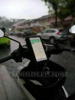 PHONE HOLDER XL SIZE GPS BIKE WATERPROFF LC135 Y150ZR RS150 HONDA YAMAHA PULSAR GIVI