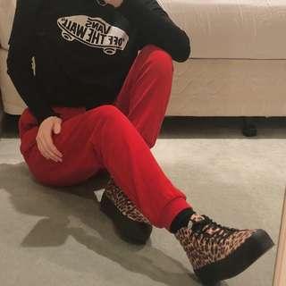 VANS Sk8-Hi Leopard Print Sneakers