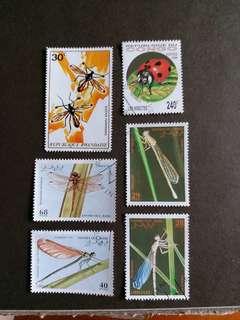 已銷昆蟲郵票