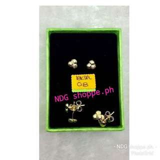 0.8g pure gold earing