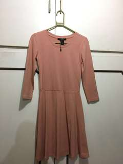 Forever 21 Rose Gold / Pink Beige Skater Dress