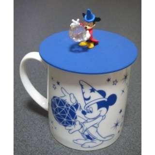 Last Piece Japan Disney store Disneystore D23 2015 Cup With Fantasia Mickey Lid Mug