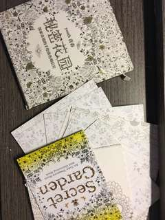 全新秘密花園明信片