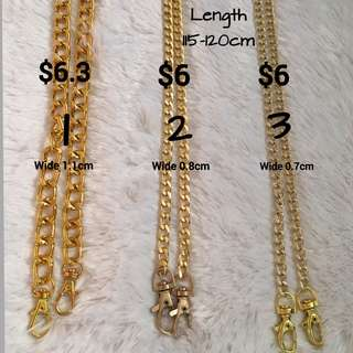 Sling chain for bag