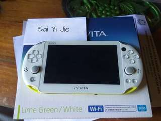Ps vita slim lime green