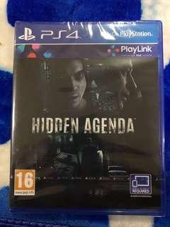 Hidden agenda ps4 game