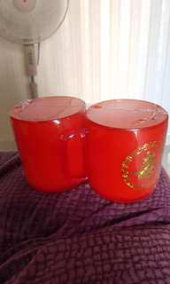 BN wedding xi couple red mugs