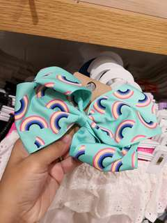 Cotton On Kids Statement Bow - Rainbow