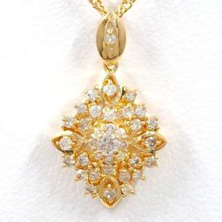 RESERVED - 0.3 cts - 18k Diamond Necklace