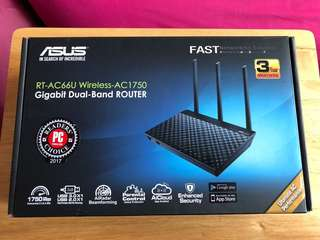 ASUS RT-AC66U Wireless-AC1750-B1 有單3年保養