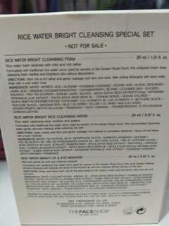 The faceshop rice water cleansing set