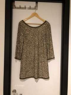 Sportsgirl backless sequin shift dress - fits size 6-8