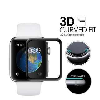 全屏覆蓋!! Full Screen Coverage Glass protector 38mm / 42mm Apple Watch Series 1 / 2 / 3代 通用compatible,  9H 2.5D 高清鋼化玻璃貼膜 防水保護你的手錶 Smart Watch