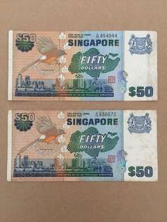 SG Old $50 Note
