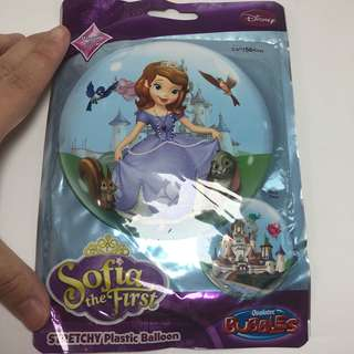 22″ Qualatex Stretchy Plastic Sofia the First Bubble Balon Balloon