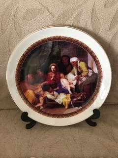 Display plate porcelain