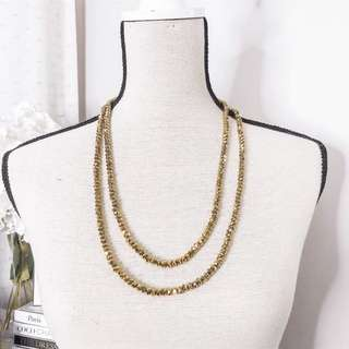Forever21 sparkly gold necklace • F21 fashion accessory • jewelry